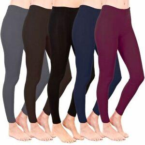 NEW WOMEN'S LADIES WARM THICK WINTER THERMAL FLEECE LEGGINGS PLUS SIZE 6-26 UK