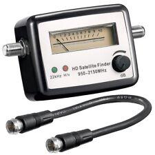 SAT Finder Digital Analog Satfinder HDTV Satelliten Finder + F-Kabel SAT Signal