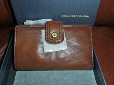 """FRANCESCO BIASIA WALLET IN """"HOLLYWOOD GLOW"""" BROWN LEATHER"""