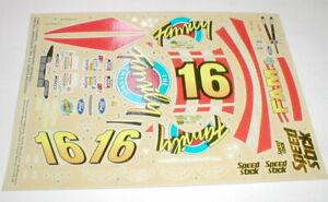 #16 Family Channel Thunder Bird Stock Car Decals Model Car Ford  Monogram 1/25