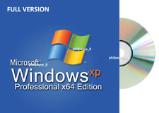 FULL Windows XP 64-bit PROFESSIONAL SP3 + CODE CD BOOTABLE Pro 10 Repair 7