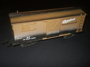 New Bright G Gauge Overland Western Railroad Boxcar