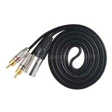 1 XLR Male to 2 RCA Male Plug Stereo Audio Cable Connector Y Splitter Wire I4Q2