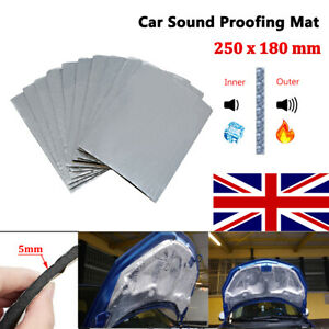 10 Sheets Sound Deadening Damping Mat Car Silent Compact Van Proofing 250*180 mm