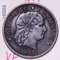 H0055 Haiti 1881  2 Centimes combine shipping