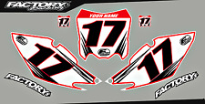 Honda CRF 50F 04-12 Pre Printed Number plate Backgrounds Accel SERIES