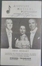 Program 1964/65 Trio Mozart - Lee Meredith, John Yard e Joseph Collins
