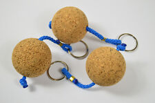 Cork 3 pack Wooden ball Keyring floating present gift float holiday water sport