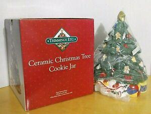 Vintage Cookie Jar Christmas Tree - Decorated - Ceramic -New with box