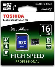 Schede di memoria MicroSDHC Toshiba per fotocamere e videocamere