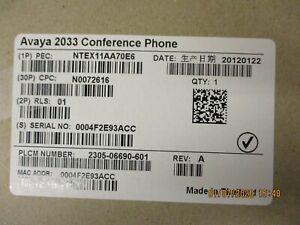 AVAYA - NTEX11AA70E6 - 2033 IP Conference Phone