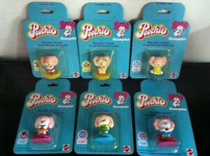 Poochie Set of 6 Different STAMPERS in Italian Language MOC, 1982