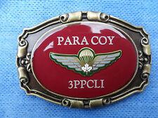 3PPCLI Para Coy Western Belt Buckle w/Canadian Medium Airborne Wing