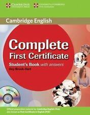 Complete First Certificate Student's Book with answers with CD-ROM, Brook-Hart,