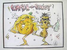 Original Pumpkin-n-Peanut Cartoon Drawing Artwork (Not Sure Which Artist)