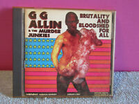 GG Allin murder junkies cd Brutality and bloodshed for all 1993 Alive records