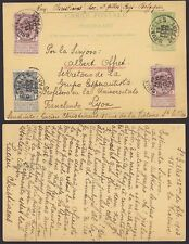 Belgium 1903 Used stamps on Postal Stationery to France - Esperanto........A4266