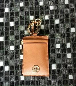 TORY BURCH ROBINSON LANYARD LUGGAGE SAFFIANO LEATHER ID/CREDIT CARD HOLDER