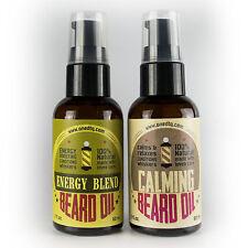 OneDTQ Beard Oil Double Pack: Energy & Calming. 100% Natural
