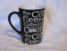 Fisher Home Products Black Mug Coffee Bean Pattern w/ White Lettering 5