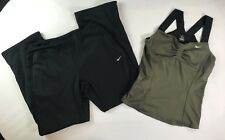 Lot Of 2 Nike Outfit Dri Fit Maria Tank & Therma Fit Pants Athletic Wear Size M