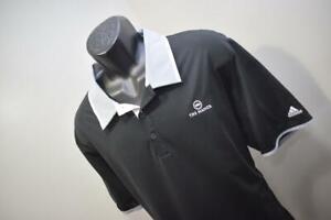 42325 Mens Adidas Golf ClimaCool Black Short Sleeve Golf Polo Shirt Size XL