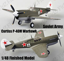 WWII Curtiss P-40 Warhawk Soviet Union finished aircraft 1/48 Easy model plane