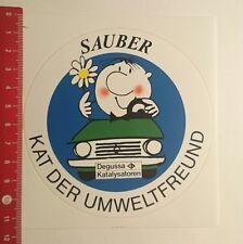 Aufkleber/Sticker: Degussa Katalysatoren sauber Kat der Umweltfreund (19111612)