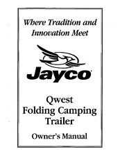 Jayco Fold-Down Pop-Up Tent Trailer Owners Manual- 2000 Qwest