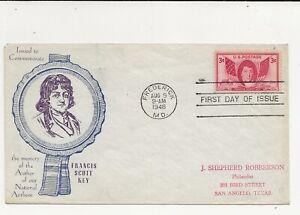 United States Comm/FDC - 2 x Francis Scott Key - 1948 (073)