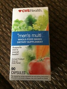 CVS Health Men's Multi Whole-Food Based Vitamin ~ 90 Capsules ~EXP 4/21 ~ Sealed