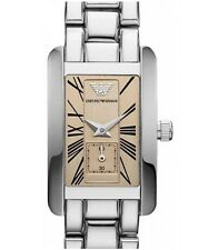 **NEW** LADIES EMPORIO ARMANI CHAMPAGNE DIAL CLASSIC WATCH - AR0172 - RRP £195