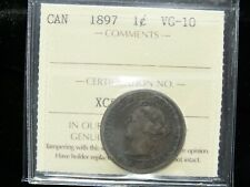 1897 - Canadian One Cent - ICCS Graded VG-10