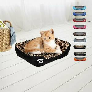 S-XXXL Pet Dog Cat Bed Puppy Cushion House Warm Kennel Mat Blanket Washable UK