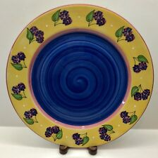 Essex Collection BOIS D ARC/TUTTI FRUITTI Blackberry Dinner Plate