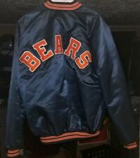 Rare Vintage Chicago Bears Chalk line satin jacket 2XL-T TALL
