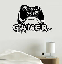 Video Game Joystick Gaming Personalized Gamer Tag Vinyl Sticker Decal Room Decor