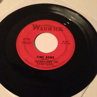 "JOHNNY AND THE HURRICANES - Time Bomb / Reveille Rock - 7"" 45RPM Vinyl Record VG"