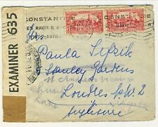 WWII cover Alger to London Constantin 21.11.1940 triple censorship