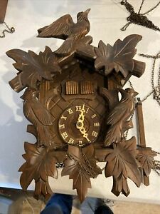 German Cuckoo Clock For parts or repair Untested