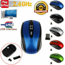 2.4GHz Wireless Cordless Mouse Mice Optical Scroll For PC Laptop Computer UK