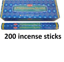 HEM Frankincense Myrrh BULK INCENSE STICKS - 25 Packets - 200 Sticks New