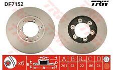 TRW Juego de 2 discos freno 261mm ventilado KIA K2500 K2700 BONGO K2900 DF7152