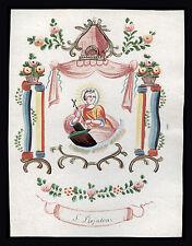 santino miniatura 1700 S.ROSALIA DI PALERMO