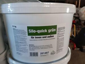 Silolack QUICK Wandlacke grün 21 Liter 4,66 €/L Bitumen Bitumenanstrich innen au