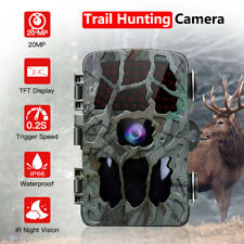 HD 1080P 20MP Trail Camera Farm Home Scouting Night Vision Game Waterproof Video