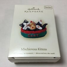 Hallmark Keepsake Ornament Mischievous Kittens Dated 2007 9th in Series New