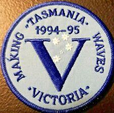 "Girl Guides  ""Making Waves Tasmania, Victoria Contingent 94-95""  Edged Badge"