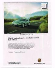 2011 PORSCHE Panamera S Hybrid Advertisement
