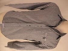 English Laundry John Lennon Mens Grey Stripe Long Sleeve Cotton Shirt M